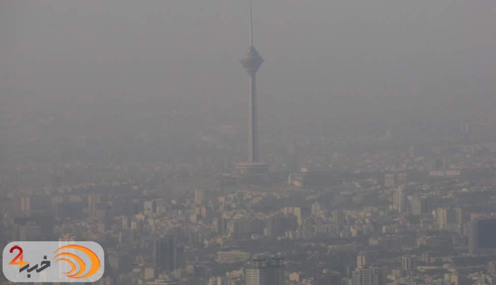 کیفیت هوای تهران نارنجی شد